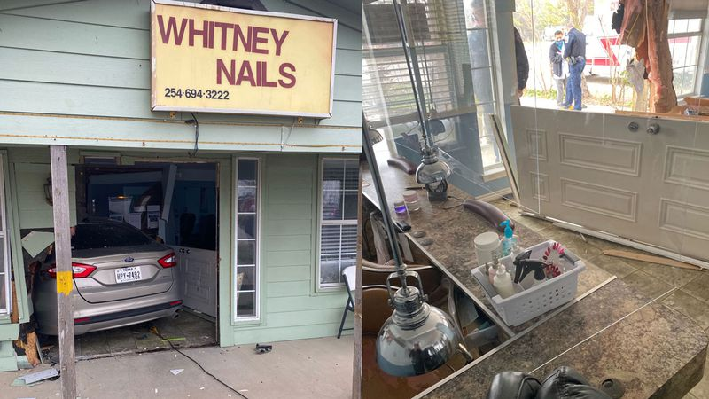 The accident happened at around 12:15 p.m. Wednesday at Whitney Nails.