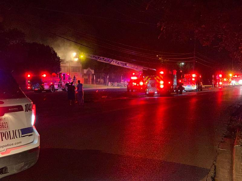 The fire was reported at around 1 a.m. Tuesday.
