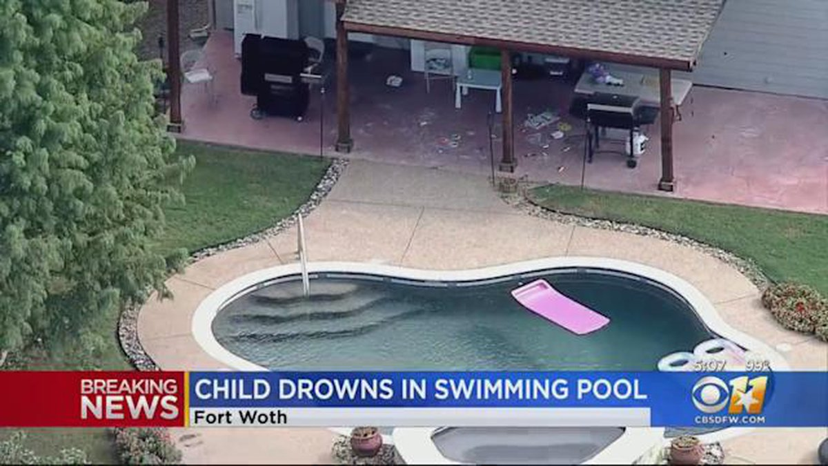 A toddler in the Fort Worth area wandered into a backyard and drowned in a pool.
