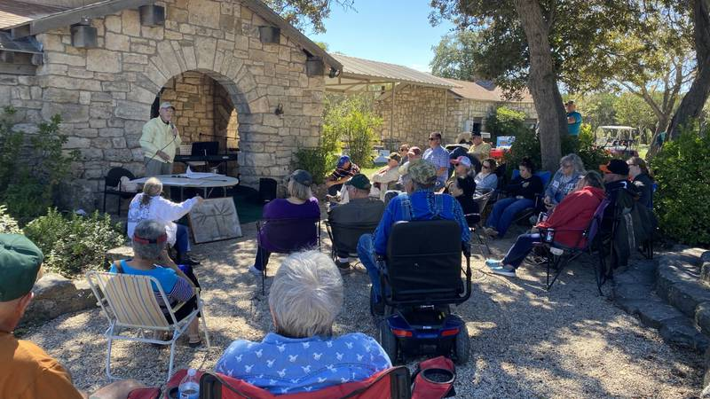 The Crawford Community Historical Society hosted a celebration for the Tonkawa Tribe and their...