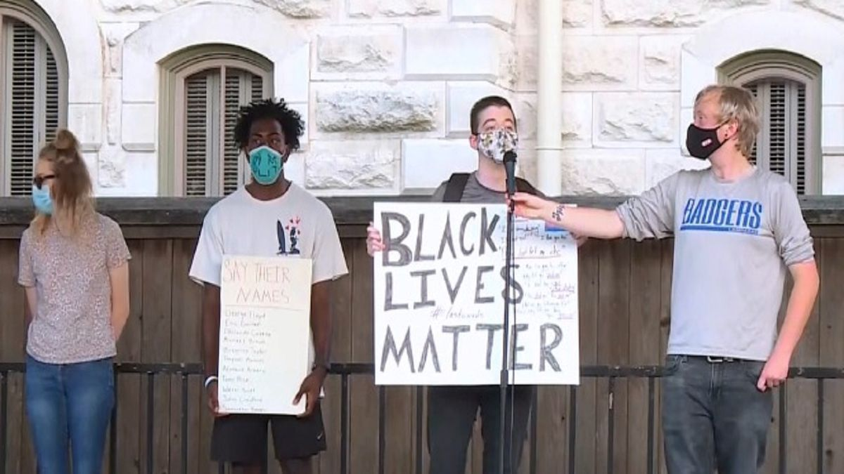 A peaceful protest was held in Lampasas Thursday night.