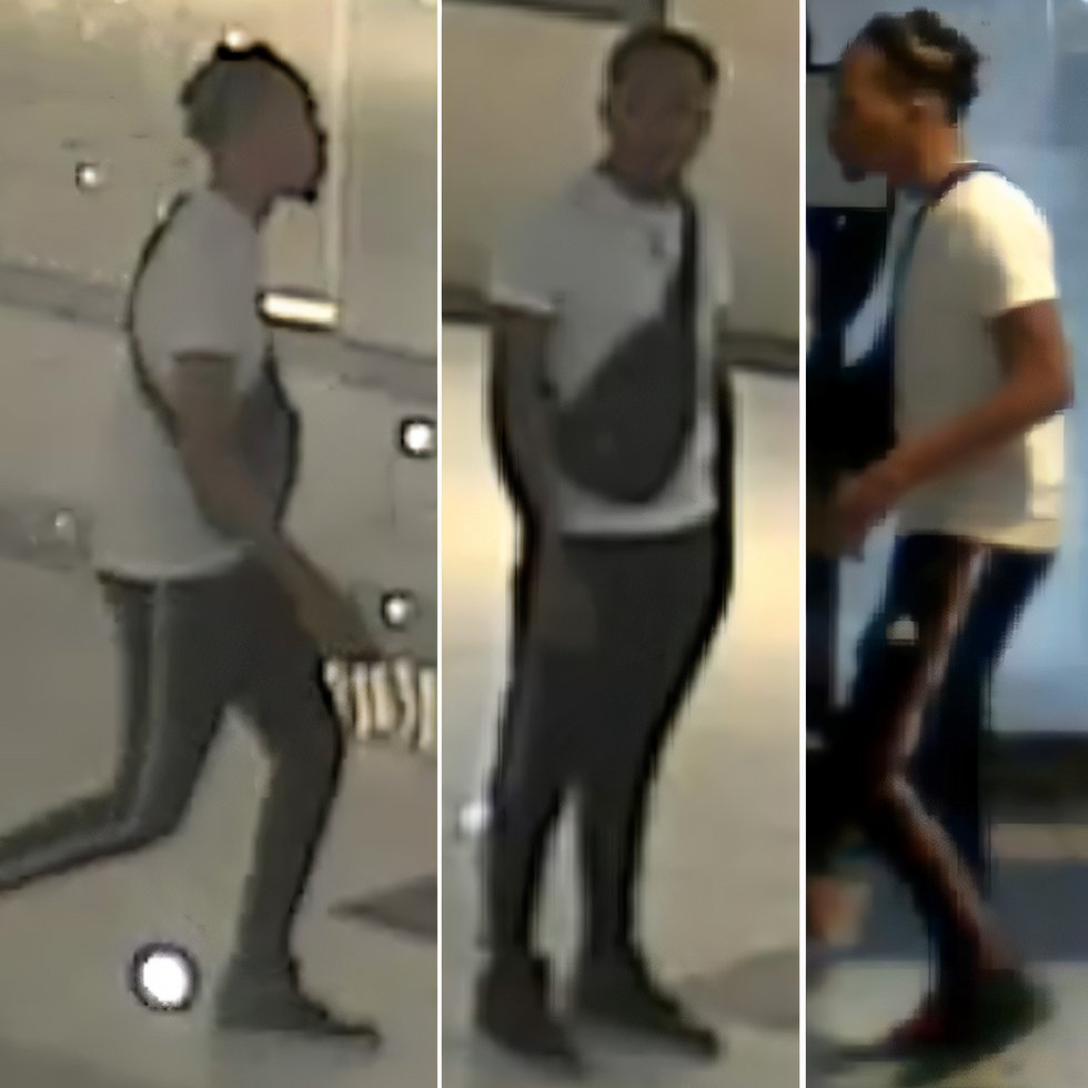The Houston police department has released surveillance video and photos of a suspect who shot...