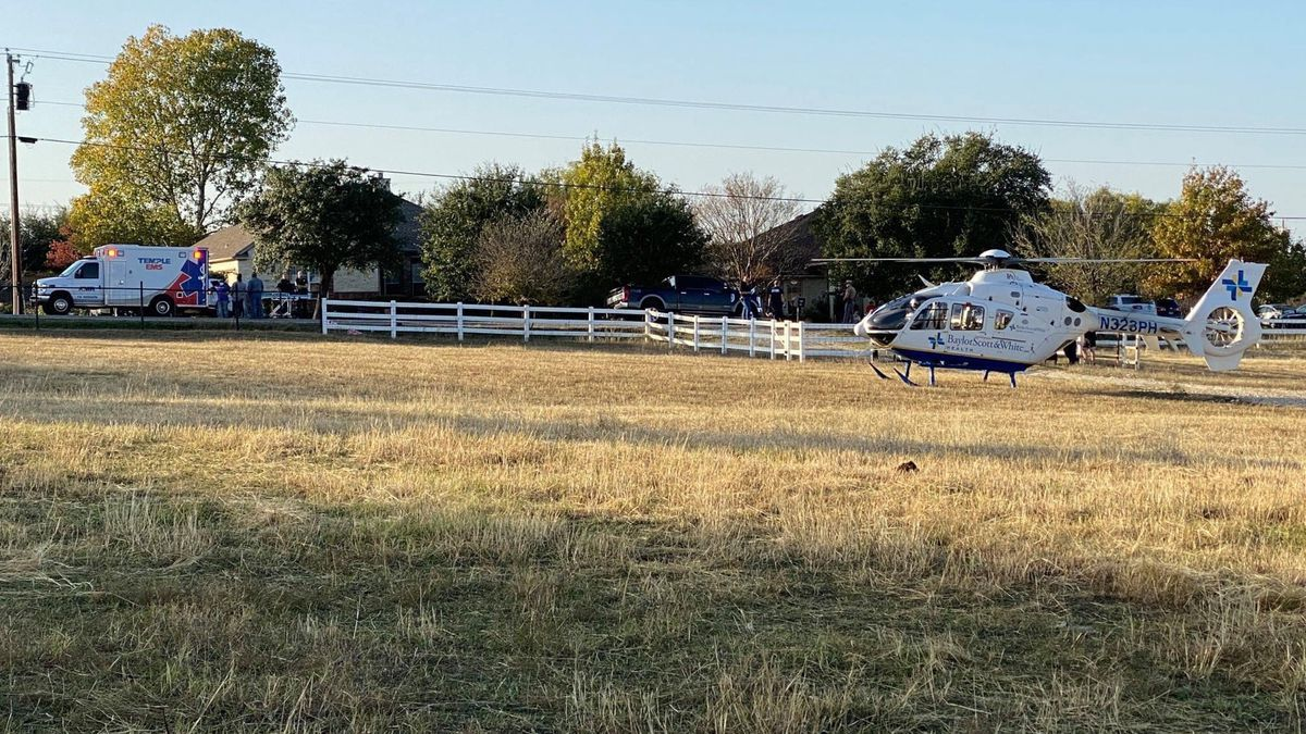 The woman was flown to Scott & White Medical Center in Temple where she died on Sunday.