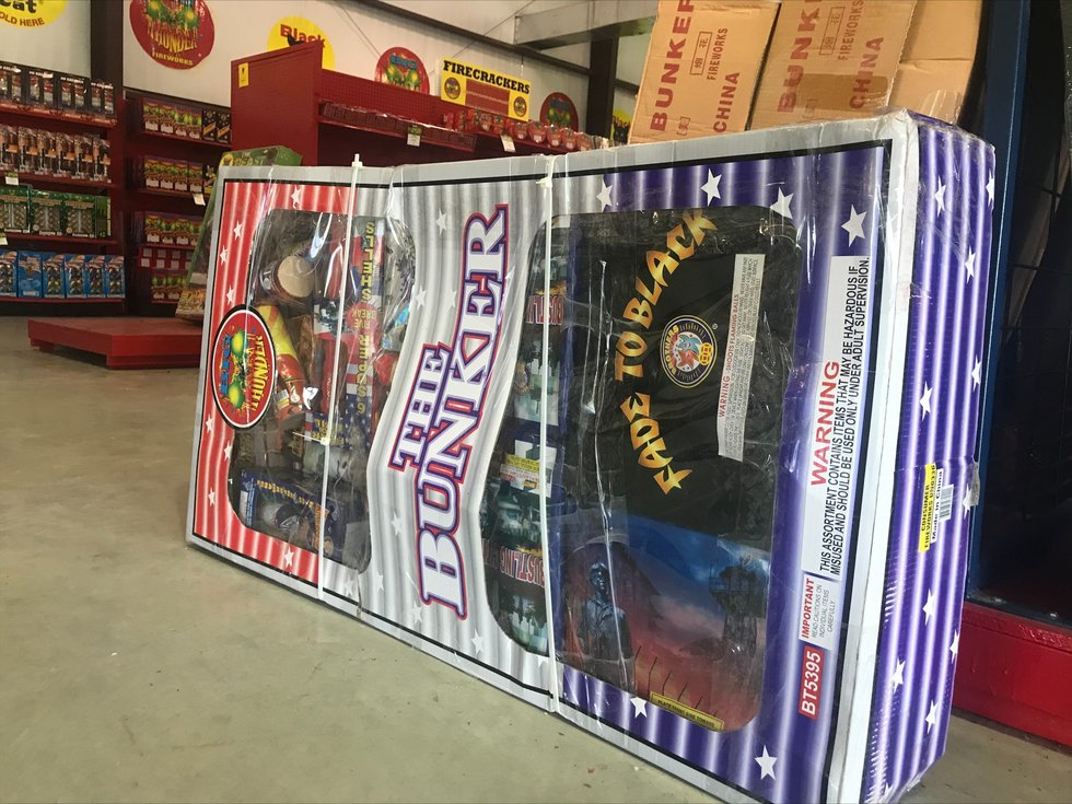 The Bunker Fireworks package is one of the most popular in Central Texas.  It retails for $541...