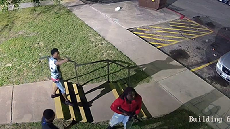 The video shows groups or teens and young adults exchanging gunfire.
