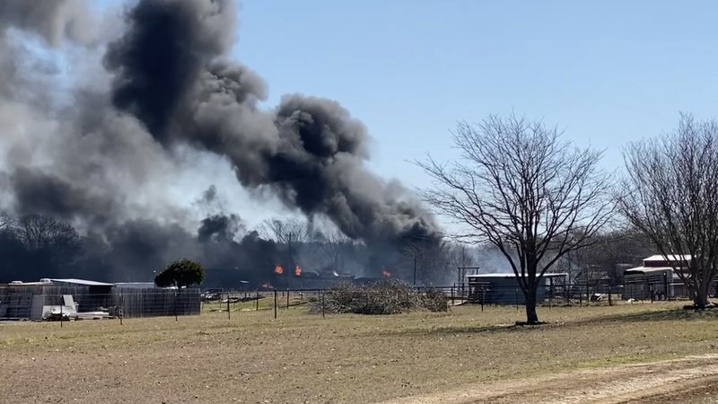 The fire burned for more than a day after the crash happened Tuesday morning.