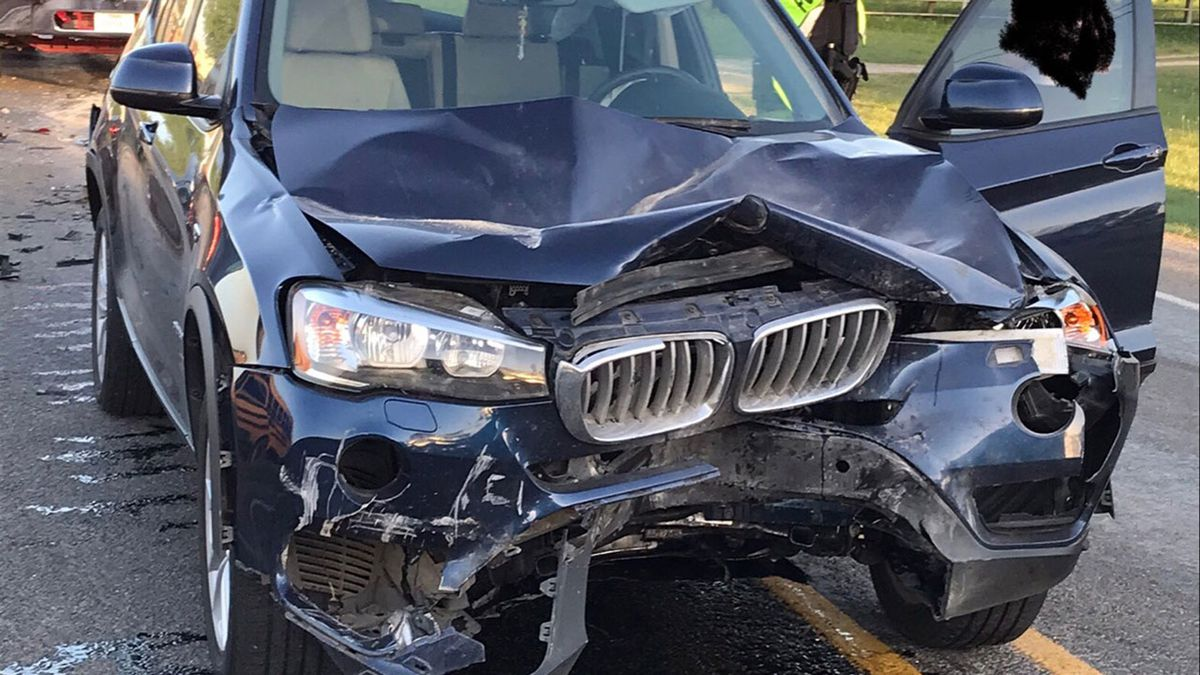 The driver died en route to a local hospital.