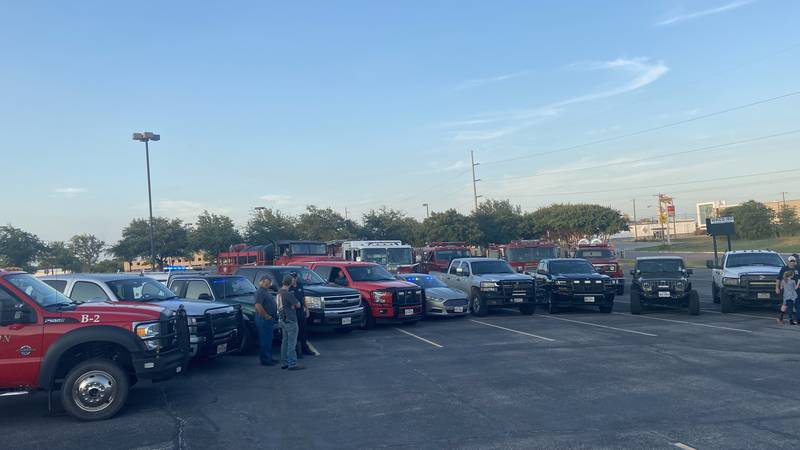 Firefighters throughout Central Texas gathered in Waco to show support for one of their own...