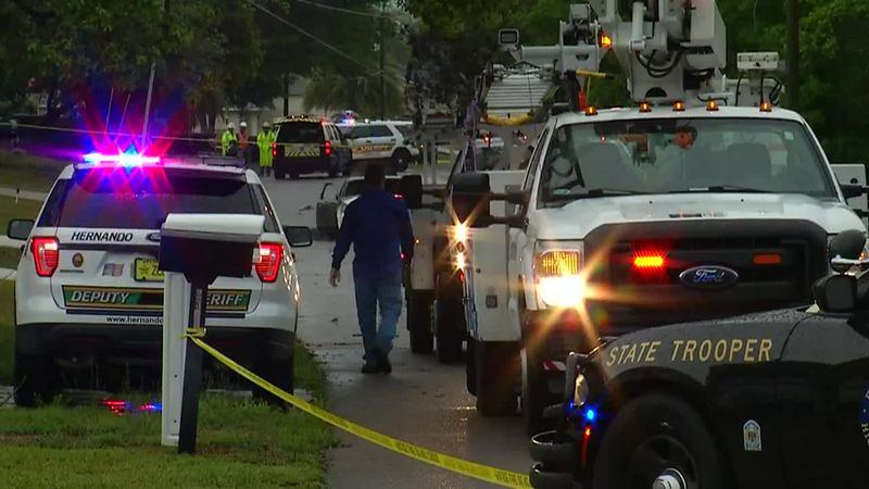 Police said a 17-year-old girl was electrocuted by a downed power line after running it over...