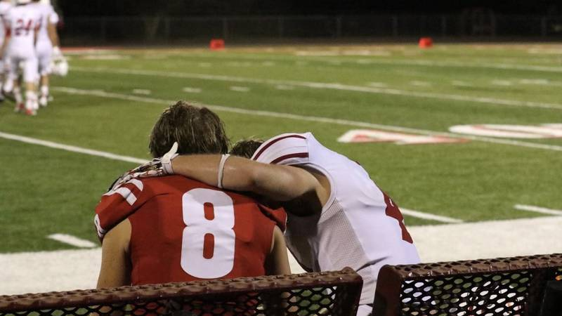Jayme Wooley, a senior running back and wide receiver at Axtell, ran to the opposing sidelines...