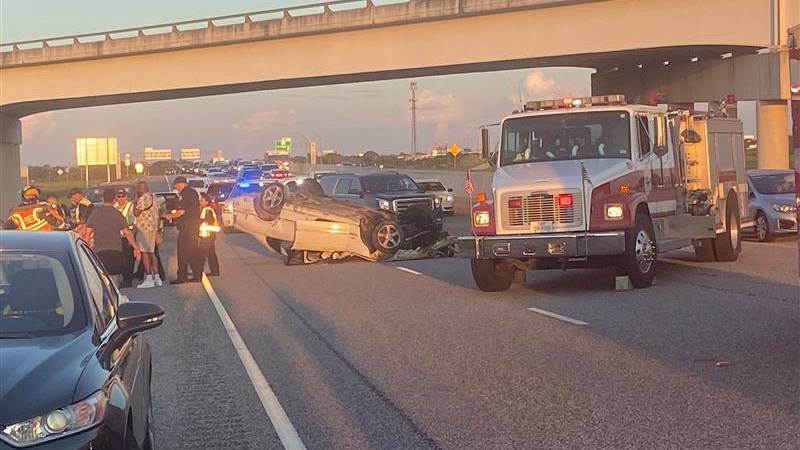 DPS Troopers investigate a crash that injured three people, one with critical injuries after a...