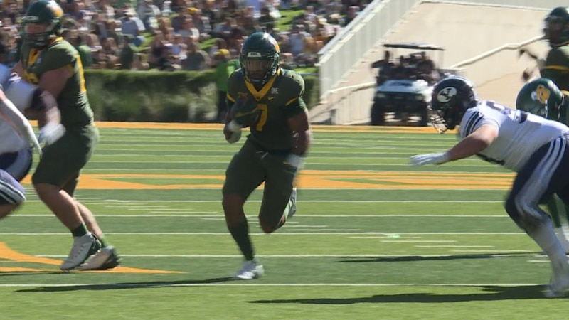 Baylor Runningback Abram Smith had 188 rush yards and three touchdowns in the team's win over...