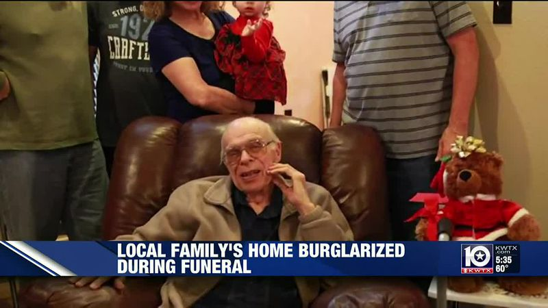 A Woodway family's home was burglarized while they were away at their father's funeral.
