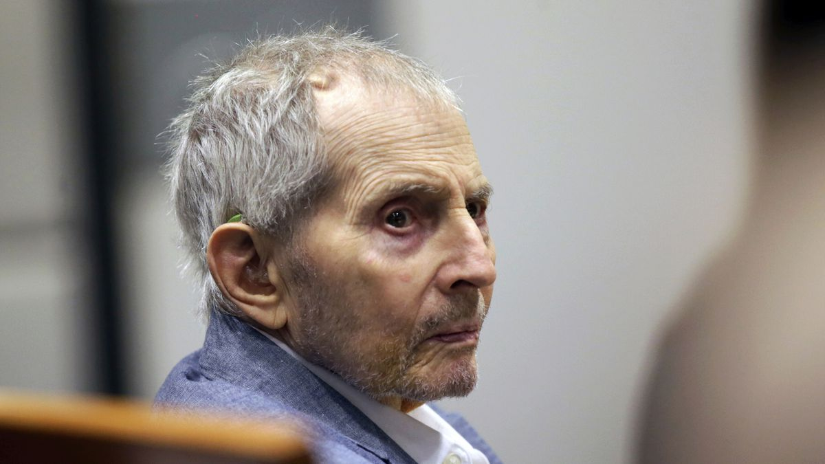 FILE - In this March 10, 2020, file photo, real estate heir Robert Durst looks over during his...