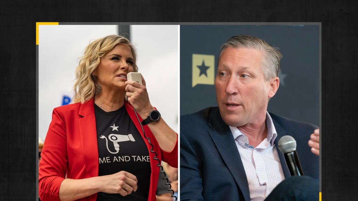 Dallas salon owner Shelley Luther and state Rep. Drew Springer, both Republicans, are headed to a runoff for a Texas Senate seat. Credit: The Texas Tribune