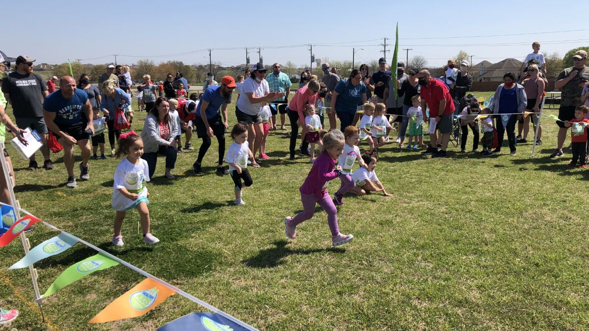 The Healthy Kids Running Series hosted a series of races in Temple Sunday for children from...