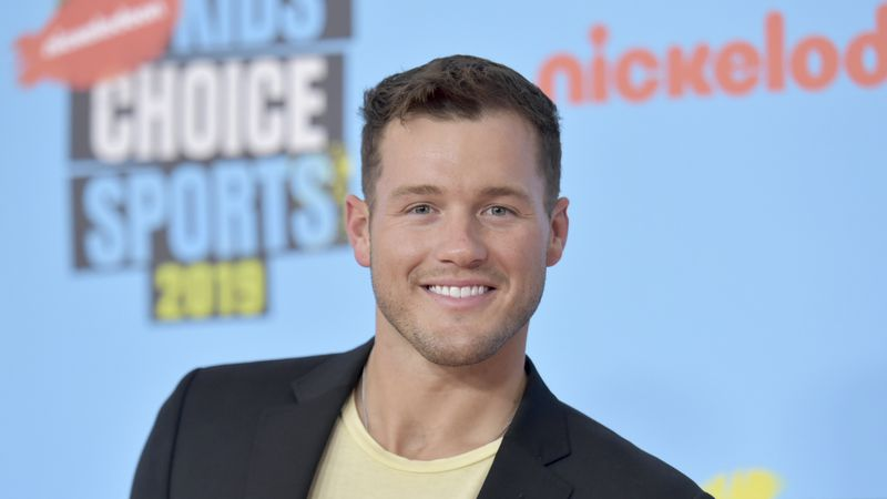 FILE - Colton Underwood arrives at the Kids' Choice Sports Awards in Santa Monica, Calif.  on...