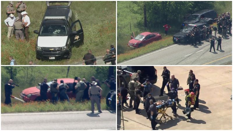 DPS troopers and sheriff's deputies in North Texas took at least one person into custody...