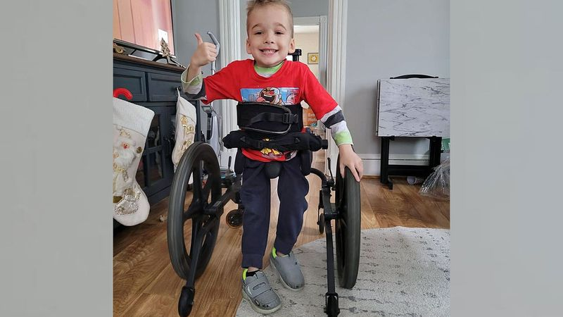 The device, called Kidwalk, just arrived and Oliver hasn't slowed down since, his mother says.