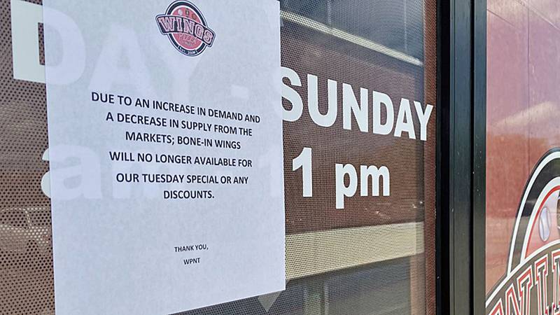 The soaring price of wings has forced at least one local restaurant owner to cancel some...