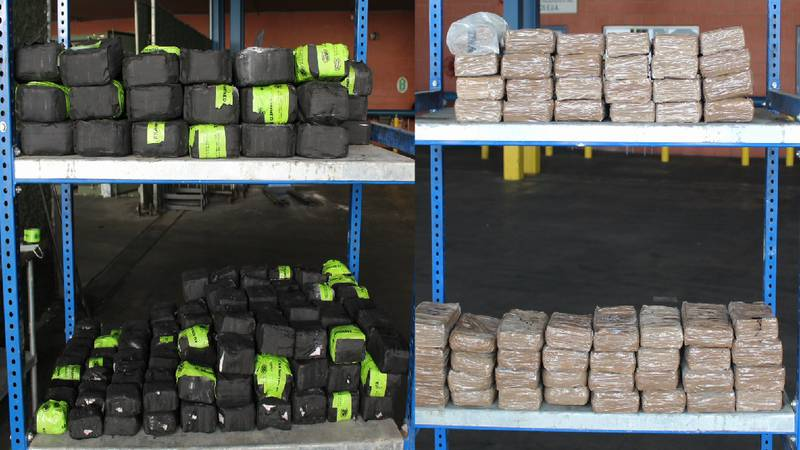 CBP photos of the drugs seized in South Texas