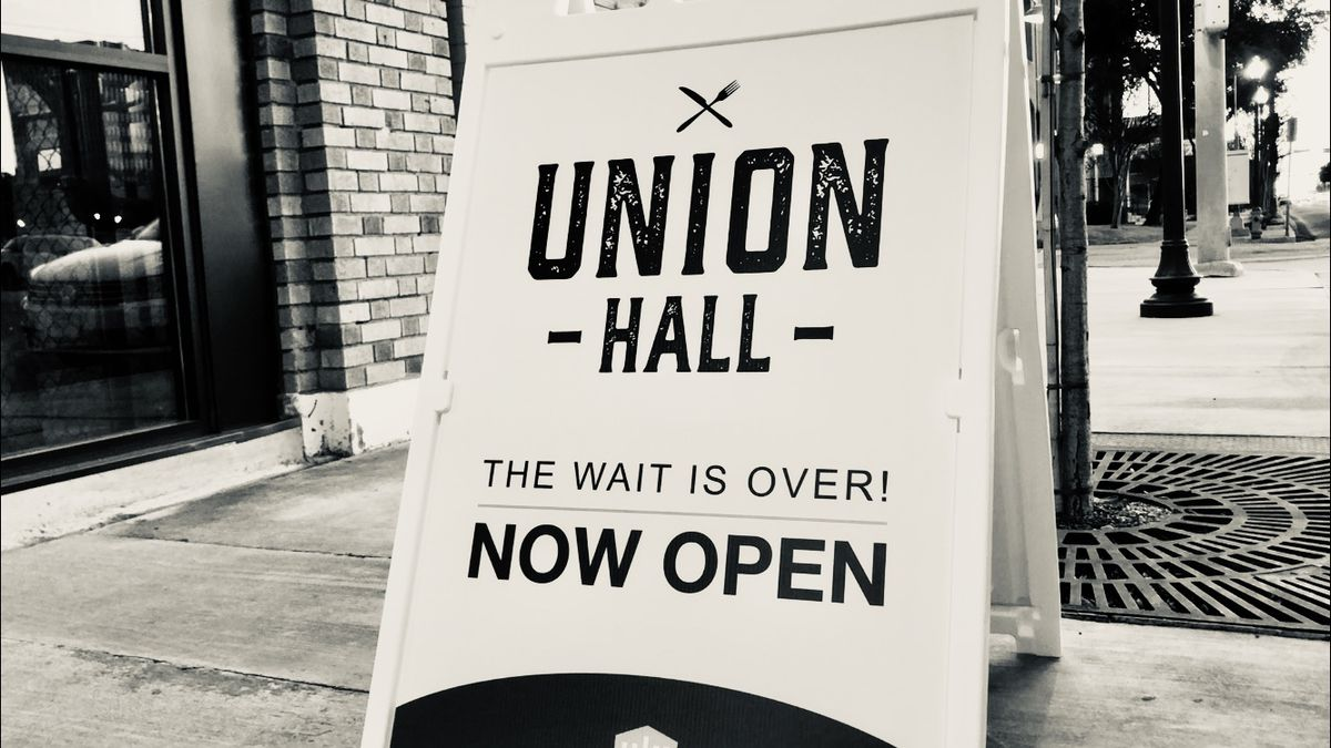 The grand opening of Union Hall is scheduled for Saturday.  (Photo by Rissa Shaw)