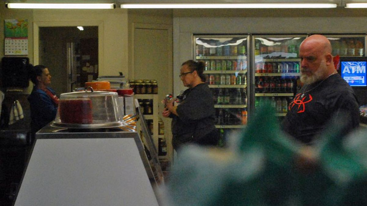 Green's Sausage House and Grocery, in Zabcikville was busy Thursday morning, and enforcing...