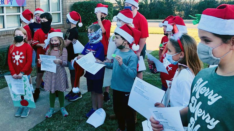 Lake Shore Village invited the group to sing to the residents.