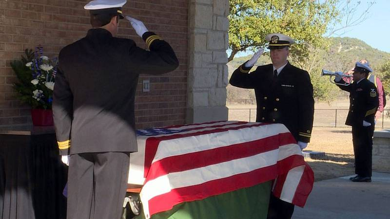FILE PHOTO:  A ceremony for an unaccompanied veteran at the Central Texas State Veterans...