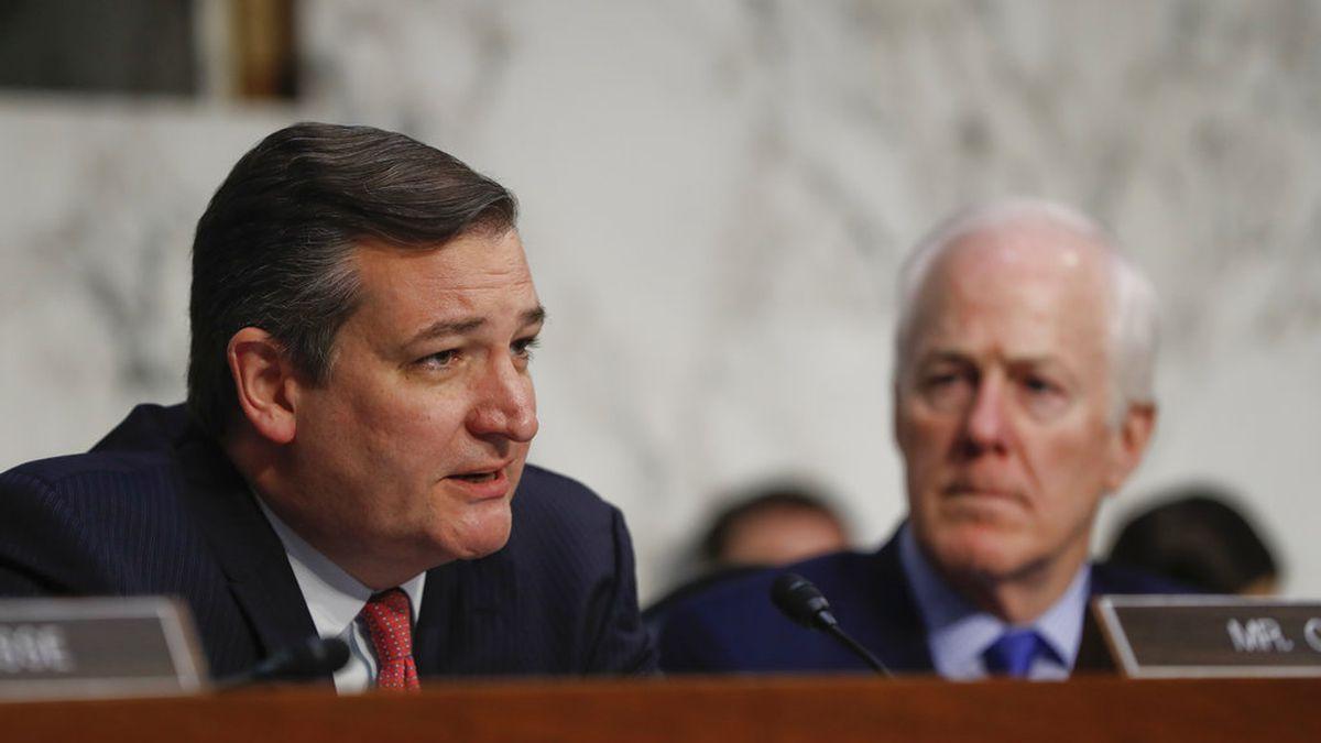 FILE:  U.S. Sens. Ted Cruz and John Cornyn of Texas will be at the inauguration of...