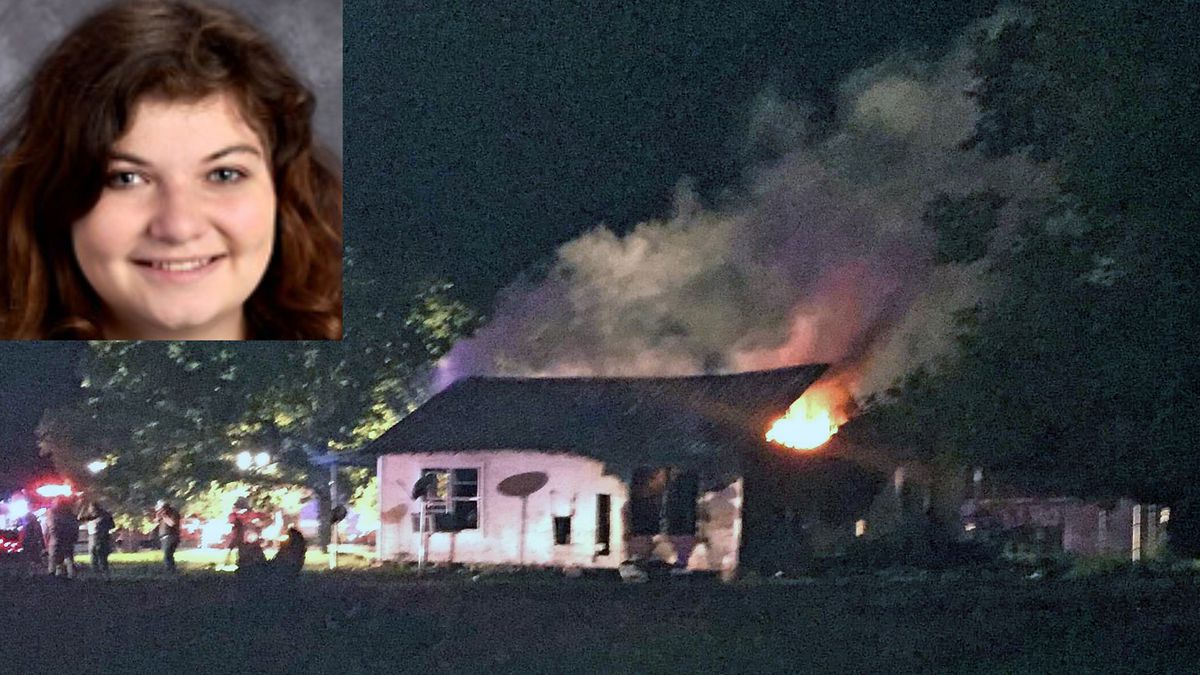 Amy Kelley (inset) survived the fire that claimed her 16-year-old brother's life. (Marlin ISD photo/Courtesy photo)