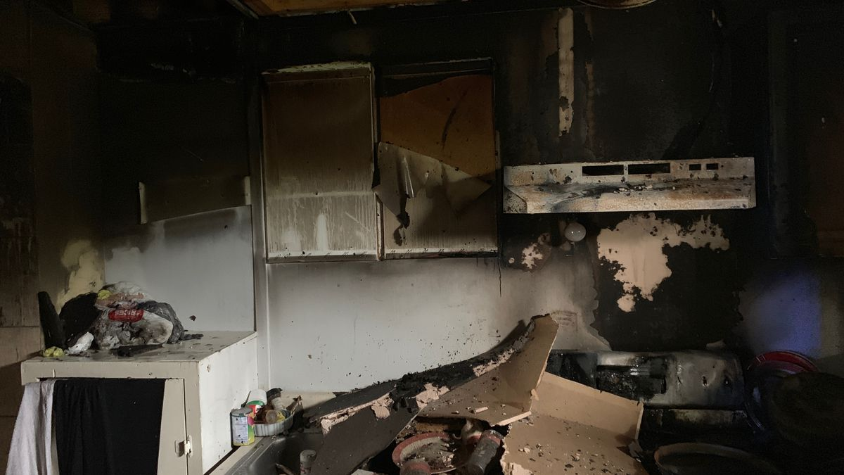 Kitchen of Rosebud home on US Highway 77 is destroyed after May fire