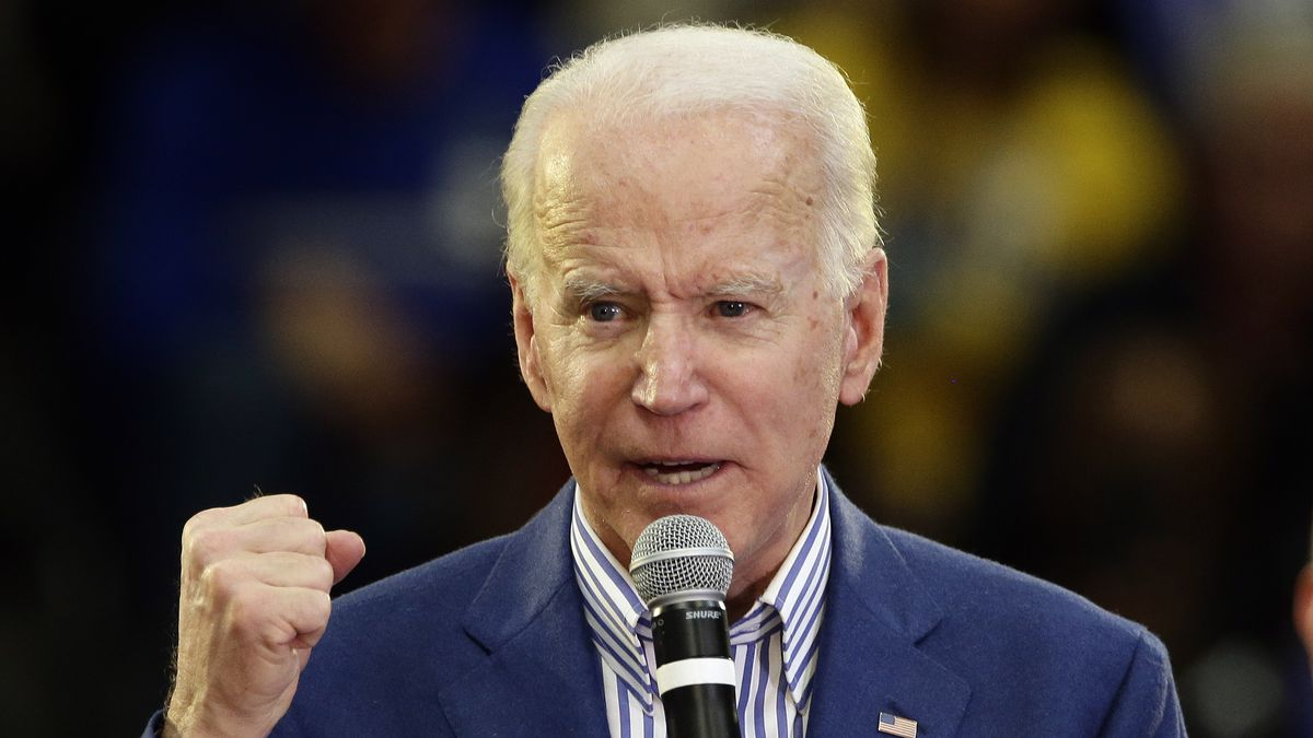 Democratic presidential candidate former Vice President Joe Biden speaks at a campaign event at Saint Augustine's University in Raleigh, N.C., Saturday, Feb. 29, 2020. (AP Photo/Gerry Broome)