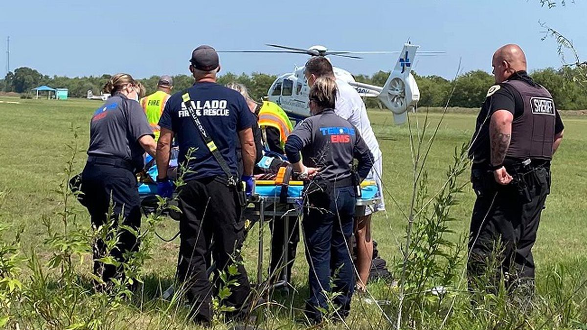 A student skydiver was flown to a local hospital Sunday after what one of the owners of Skydive Temple described Monday as a rough landing.
