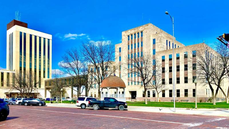 Lubbock County Courthouse, March 20, 2020