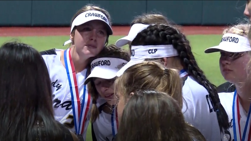 Crawford Softball players are emotional after loss in State Championship
