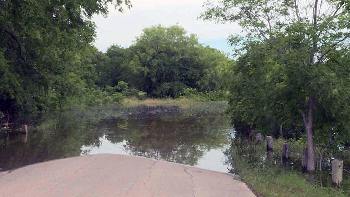 Flooding at Lake Waco. (Photo by Christy Soto)