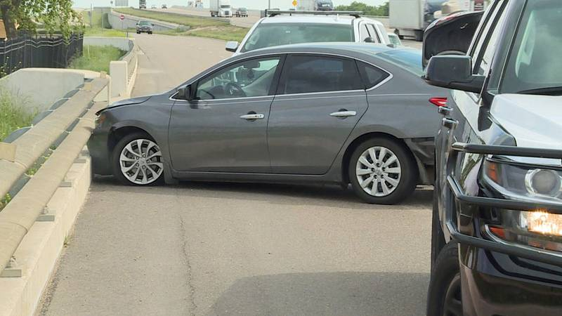 The driver of this Nissan sedan tried unsuccessfully to ram a Department of Public Safety unit...