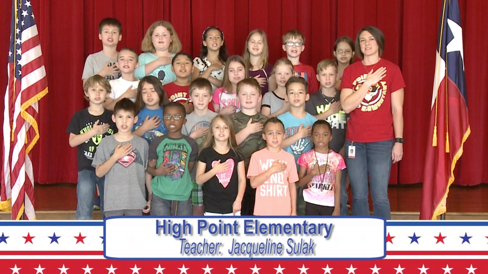 Daily Pledge - High Point Elementary - Mrs. Sulak's Class