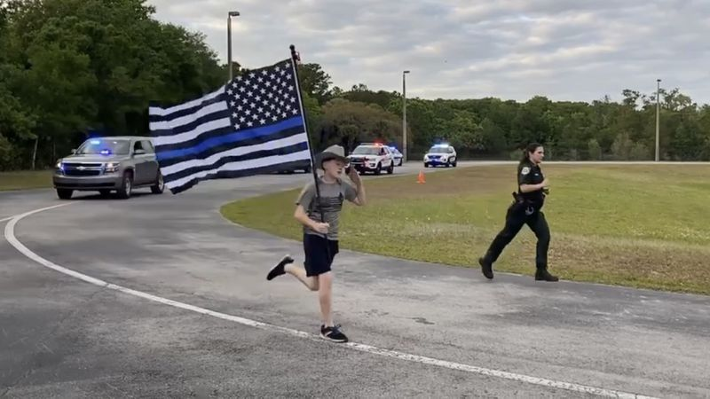A young man whose non-profit organization continues to support local law enforcement is...
