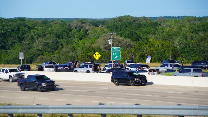 Traffic was backed up on northbound Interstate 35 in Bell County in the aftermath of a police...