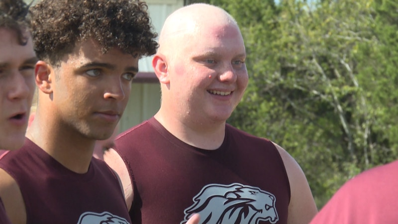 Cranfills Gap's Trenton Roberson returns to the field after being cancer and going through...
