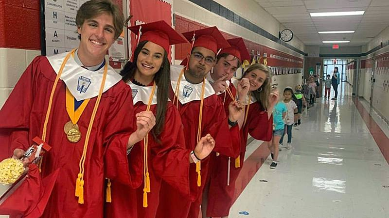 Belton high school seniors paid a visit to the elementary schools they attended Wednesday.
