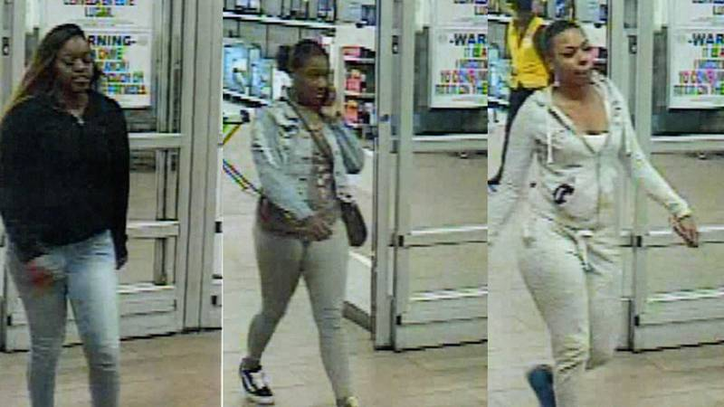 The women are wanted in connection with the theft of nearly $6,000 worth of gift cards.