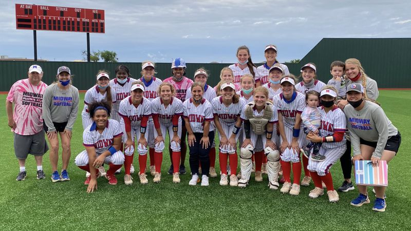 Midway softball celebrates a first-round playoff series sweep