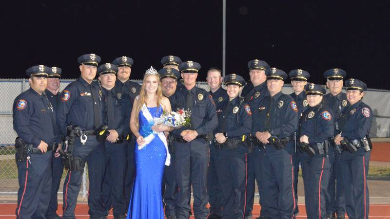 Macy McKinney, 17, was named homecoming queen for Whitney High School during the team's...
