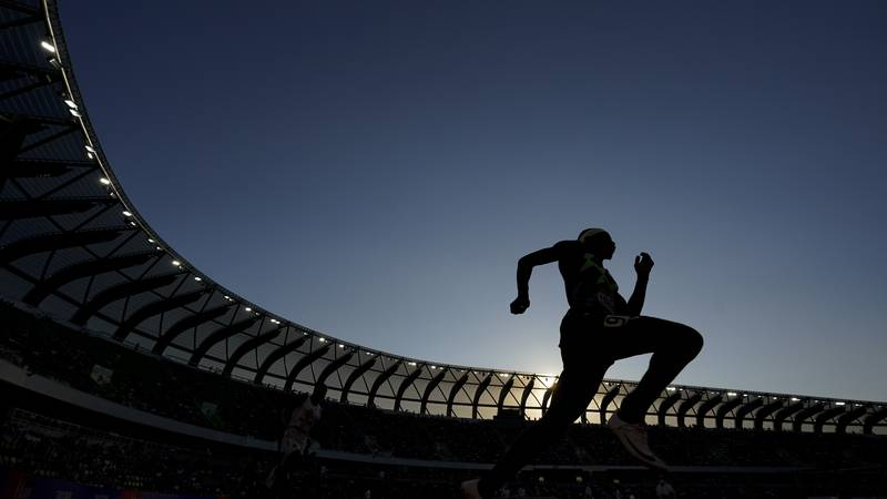 Wil London competes in the men's 400-meter run at the U.S. Olympic Track and Field Trials...