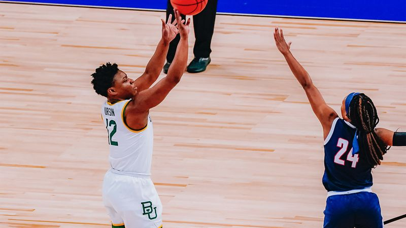 Moon Ursin Shooting in the first round of the 2021 NCAA Tournament (Twitter: @BaylorWBB)