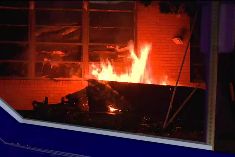 Local community saddened by fire at historic school
