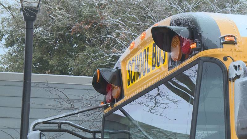 Bus drivers transport local residents in need